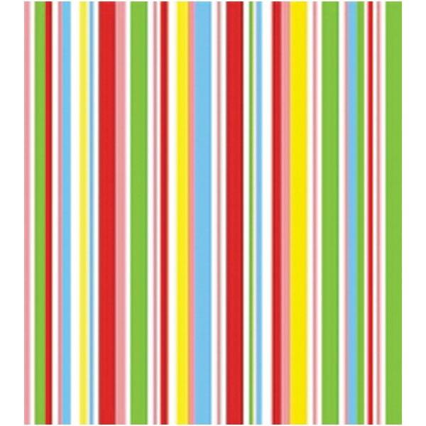 Kit c 2 rolos papel contact listrado colorido 45 cm x10m - Papel de pared de rayas ...