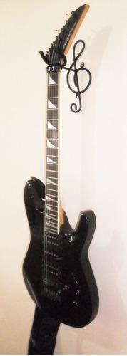 kit c/ 2 suporte parede sol violão, guitarra, baixo, cavaco