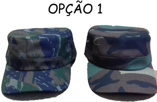 Kit C  2 Unid Boné Quepe Boina Camuflado Militar C  Ajuste - R  36 ... fb55c6b23fe