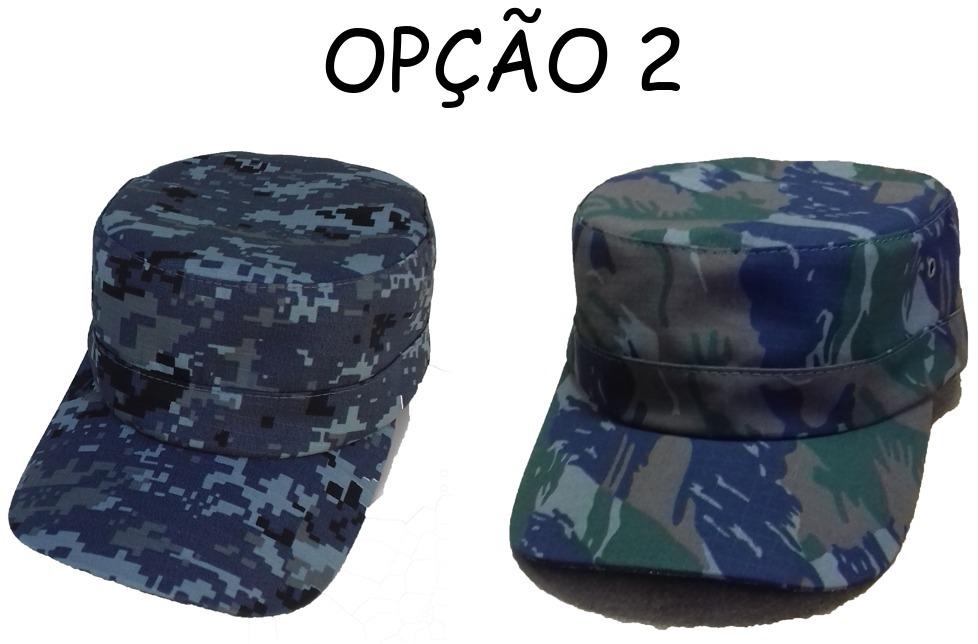 Kit C  2 Unid Boné Quepe Boina Camuflado Militar C  Ajuste - R  36 ... 7b8494b02a6