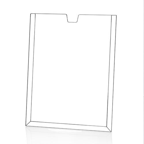 kit c/ 20 displays porta folha parede a4 com fita dupla face