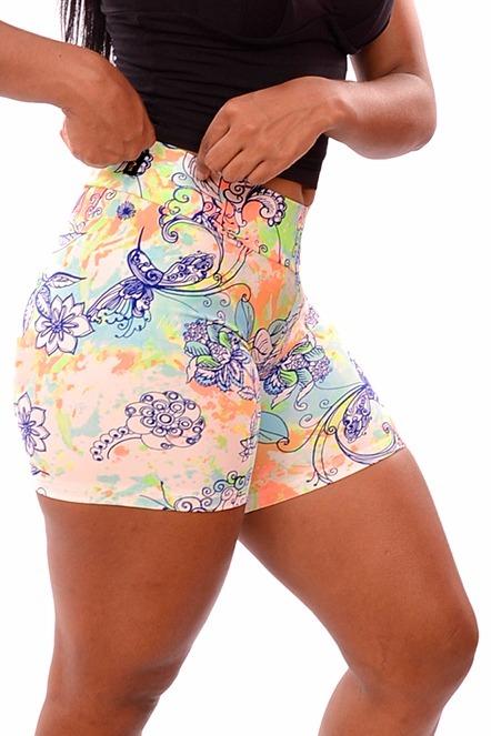 36615c8636 Kit C  20 Shorts Estampados - Academia Moda Fitness Atacado - R  199 ...