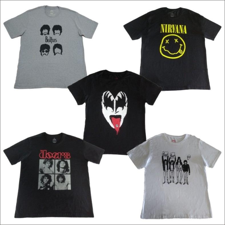 dd4ff36ce Kit C  22 Camisetas Rock - 100% Algodão - Queima De Estoque - R  264 ...