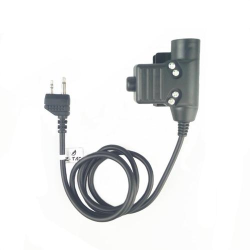 kit c 2ptt z tactical rádio baofeng / kenwood fone headset