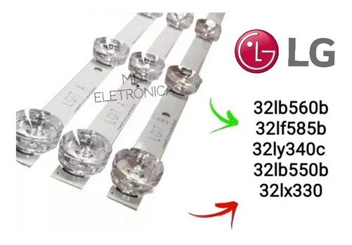 kit c/ 3 barra de led tv 32lb560b 32lb570b 32lb550b novo