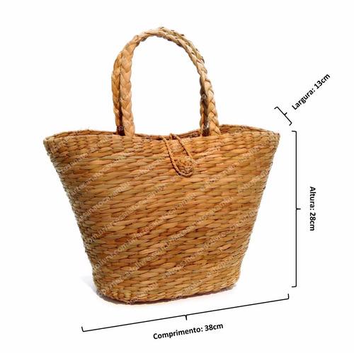 kit c/ 3 bolsas sacolas palha taboa feira praia ref.bot.v3