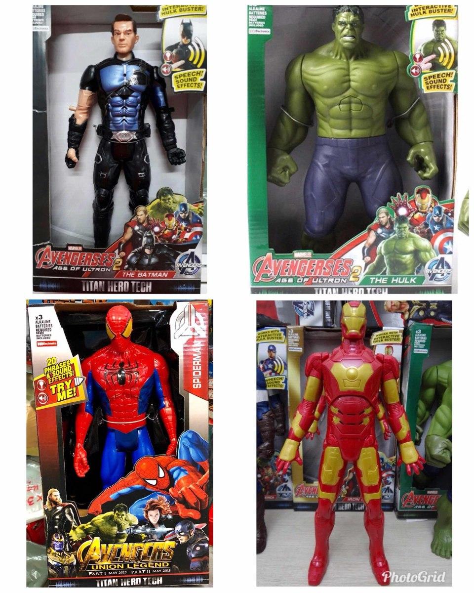 45d4e571dedce Kit C  3 Bonecos Vingadores Marvel 30 Cm C  Som Frete Grátis - R ...
