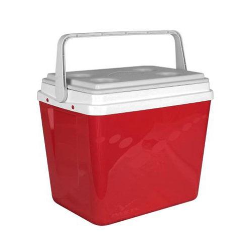 kit c/ 3 caixa térmica pop com alça 34 litros vermelha - i