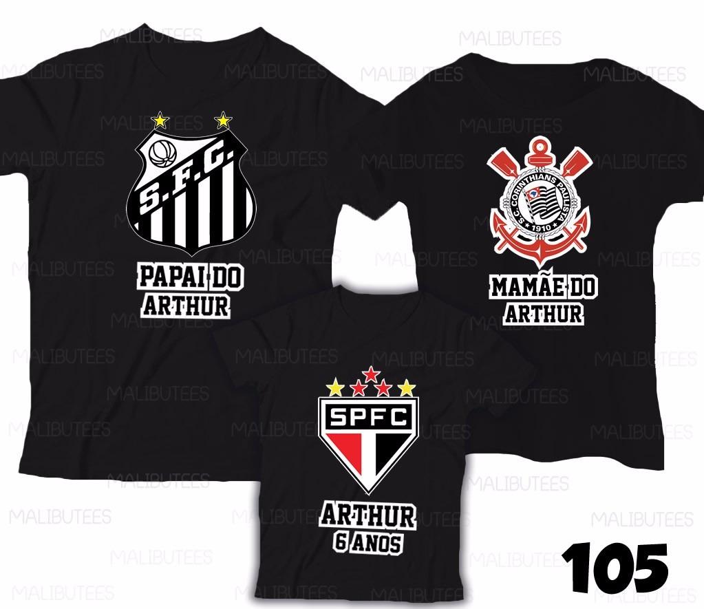 df4d3be47a kit c 3 camiseta aniversário santos time personalizada 105. Carregando zoom.
