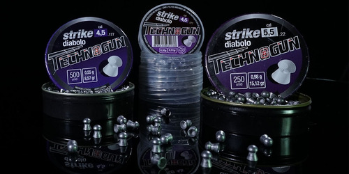 kit c/ 3 chumbinho technogun strike diabolo 4.5 m 500 uni