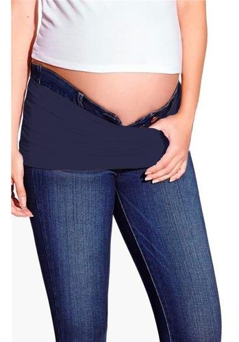kit c/ 3 faixas + 1  extensor de calça para gestante - roupa