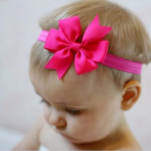 kit c/ 3 faixas faixinha de cabelo lacinho laço bebê meninas