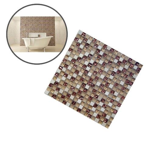 kit c/ 3 papel parede pastilha lavável n/vinílico banheiro