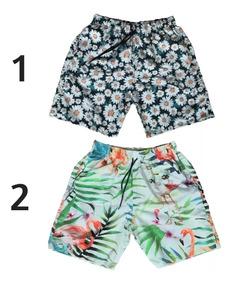 51f8b280df21 Short Floral Summer Masculino - Bermudas com o Melhores Preços no Mercado  Livre Brasil