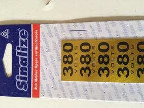Kit C/ 30 Cartela Etiqueta Auto Adesiva 380v Alumínio