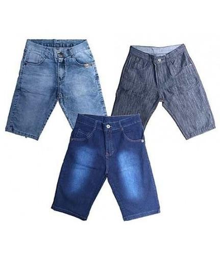 kit c/ 4 bermuda short jeans masculino preço de atacado