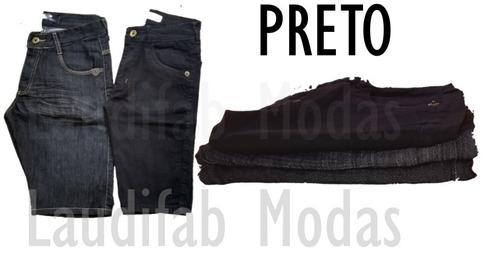 kit c/ 4 bermudas masculinas jeans atacado vários modelos