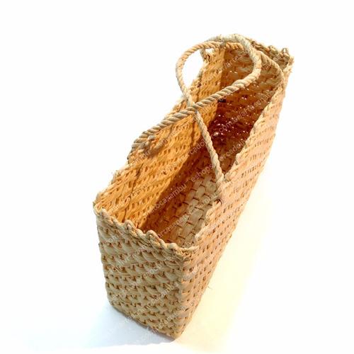 kit c/ 4 bolsas sacolas palha milho feira praia ref.bop.q4c