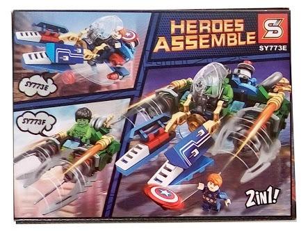 kit c/ 4 cxs - 433 peças flash hulk barato compativel lego