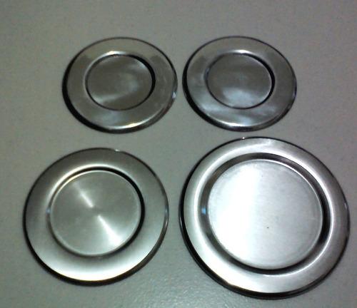kit c/ 4 espalhador de aluminio ( tampinha ) para sabaf