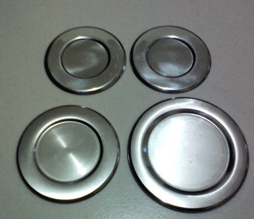 kit c/ 4 espalhadores de aluminio (capa)do continental sabaf