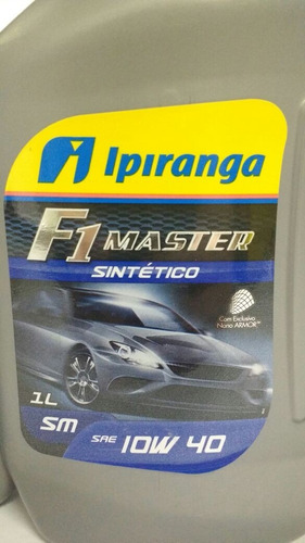 kit c/ 4 litros oleo 10w40 sm 100% sintetico f1 ipiranga