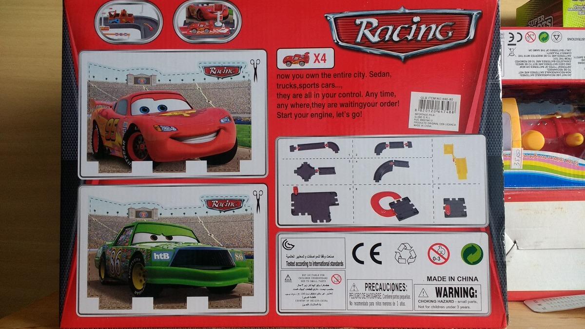Kit c 4 pista garagem cars disney relampago mcqueen 29 for Garage jm auto audincourt