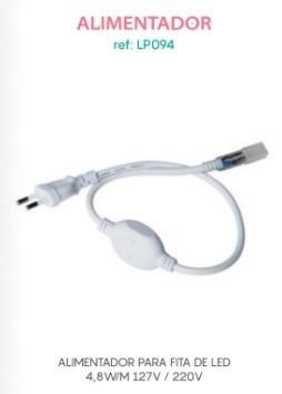 kit c/ 5 alimentador p/ fita de led bella iluminação 4,8 w/m