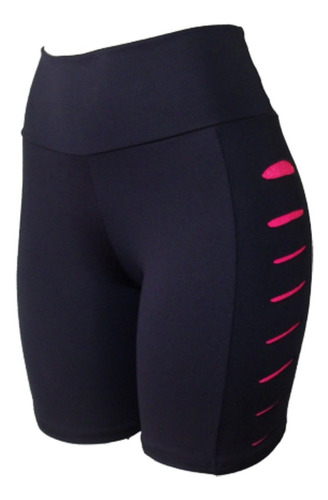 kit c/ 5 bermuda fitness feminina com corte lateral barato