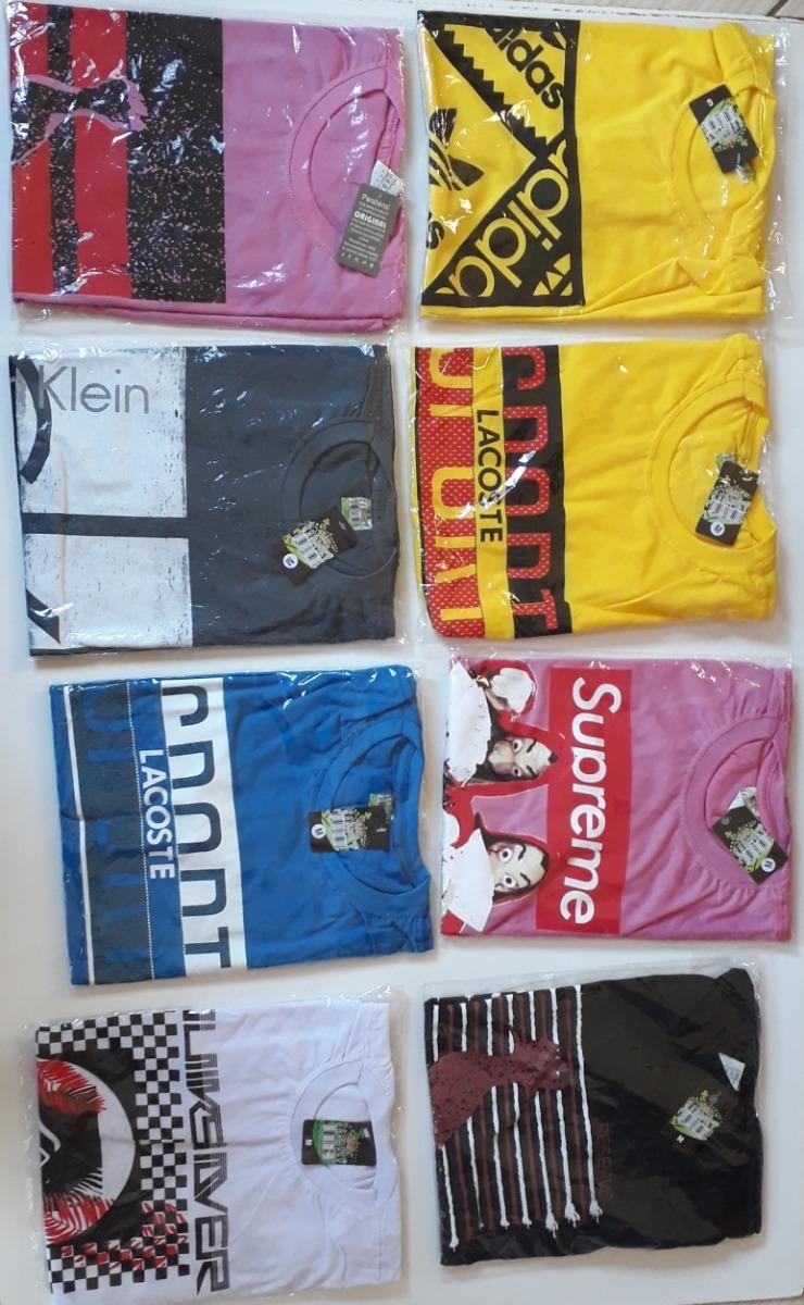04d85b07a kit c/ 5 camisetas masculina de marca revenda fabrica !!!! Carregando zoom.