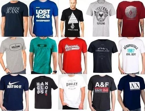 efaa478d61a93 Kit C  5 Camisetas Varias Marcas Promoção Relâmpago - R  89