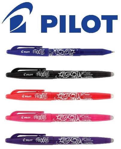 kit c/ 5 canetas apagável pilot frixion 0.7mm original