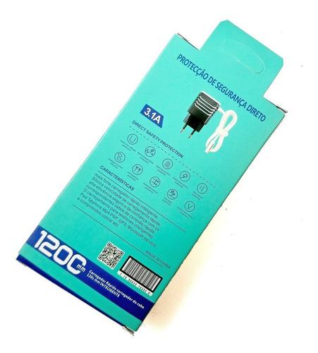 kit c/ 5 carregador micro usb v8 celular todos lg sony orro