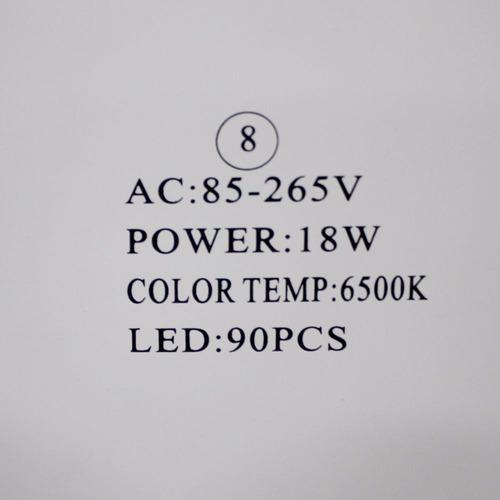 kit c/ 5 painel led 18w p/ embutir em forros de gesso