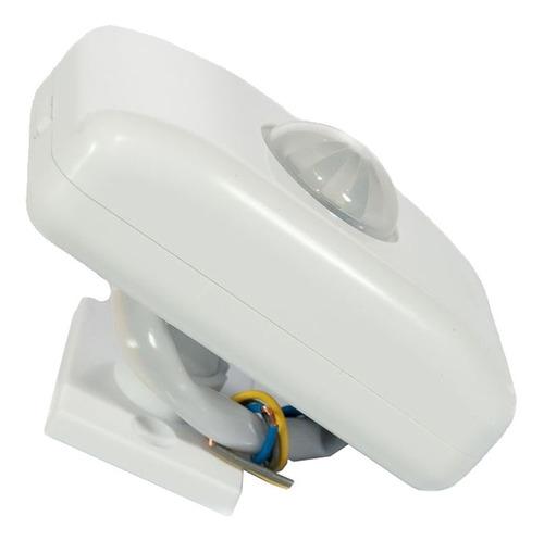 kit c/ 5 sensor de presença sobrepor (teto) c/ fotocélula