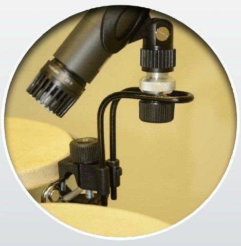 kit c/ 5 suporte para microfonar bateria clamp de mic ask