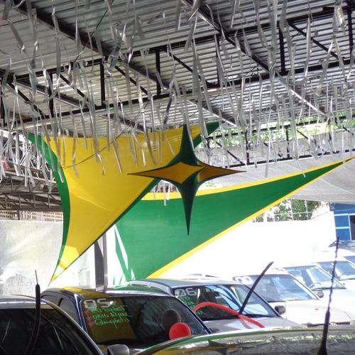 kit c/ 6 asas em tecido tencionado (2,50 cm)