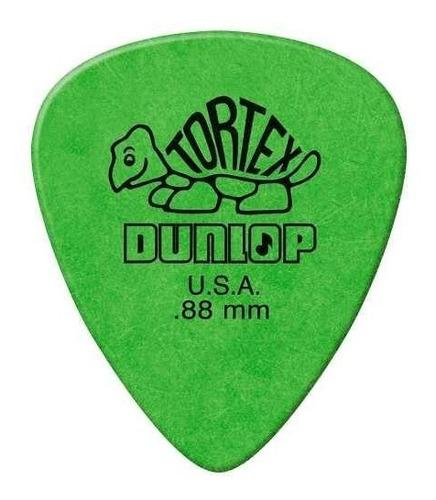 kit c/ 6 palheta dunlop tortex 0.88mm verde |  nfe