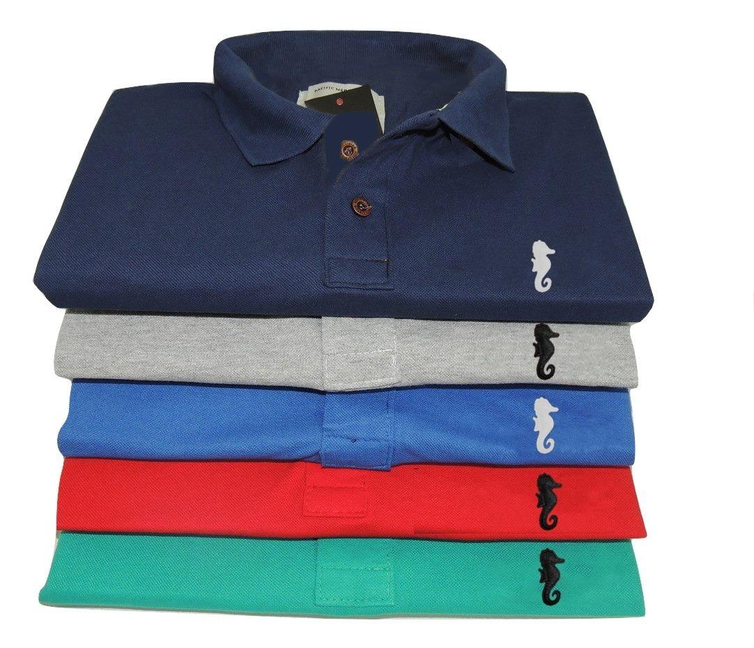 Kit C  7 Camisa Gola Polo Masculina Camiseta Atacado Revenda - R ... 65d3ecf7d5013
