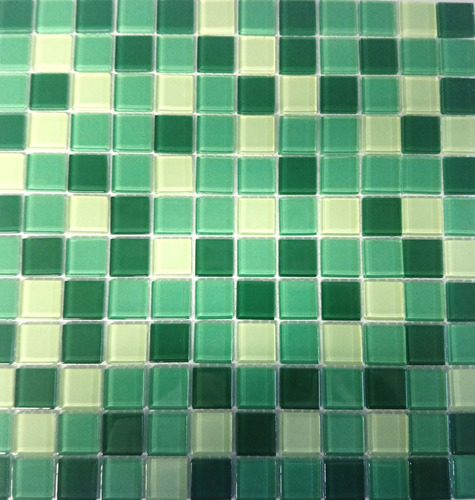 kit c/ 8 parede verde pastilha porcelanato 30cm piscin 10462