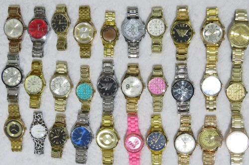 kit c/ 8 relógios feminino + pulseiras + caixas + brindes