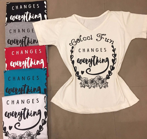 kit c 9 camisetas feminina t-shirts atacado frete gratis