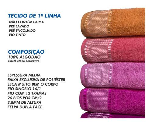 kit c/ 9 toalha de banho gigante 80 x 1,50 atacado + brinde