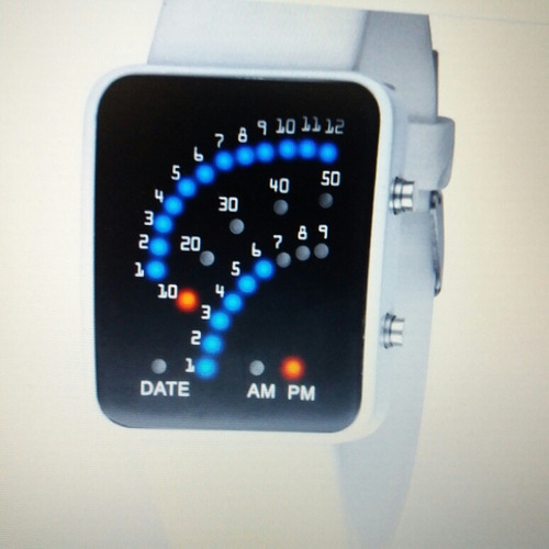 kit  c/02  relógios  de  led  fino