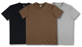 30bbf1e41a Camiseta Hering Marrom - Camisetas no Mercado Livre Brasil