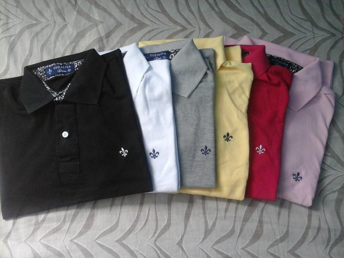 Kit C 06 Camisa Polo Dudalina Masculina Frete Barato!!! - R  221 d9aa62b677a48