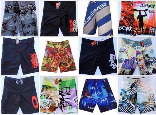 kit c/10 bermudas shorts tactel masculino atacado