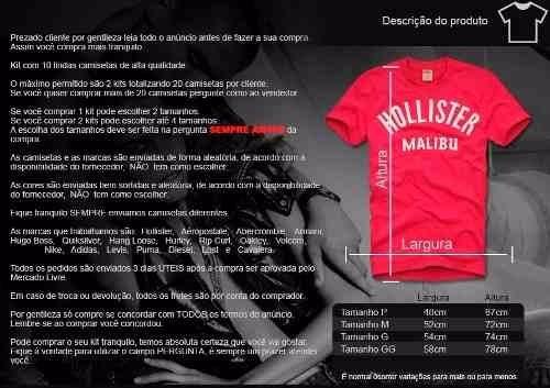 3114c06d3 Kit C 10 Camisas Blusas Masculinas Malhas Diferenciadas - R  199