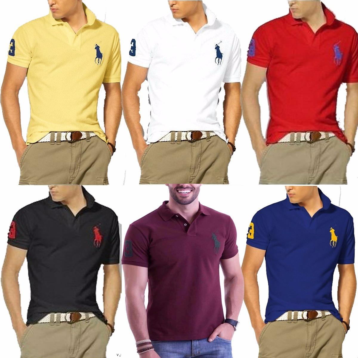 Kit C 10 Camisas Camisetas Atacado Gola Polo Masculina Marca - R ... ba76c886ad67d