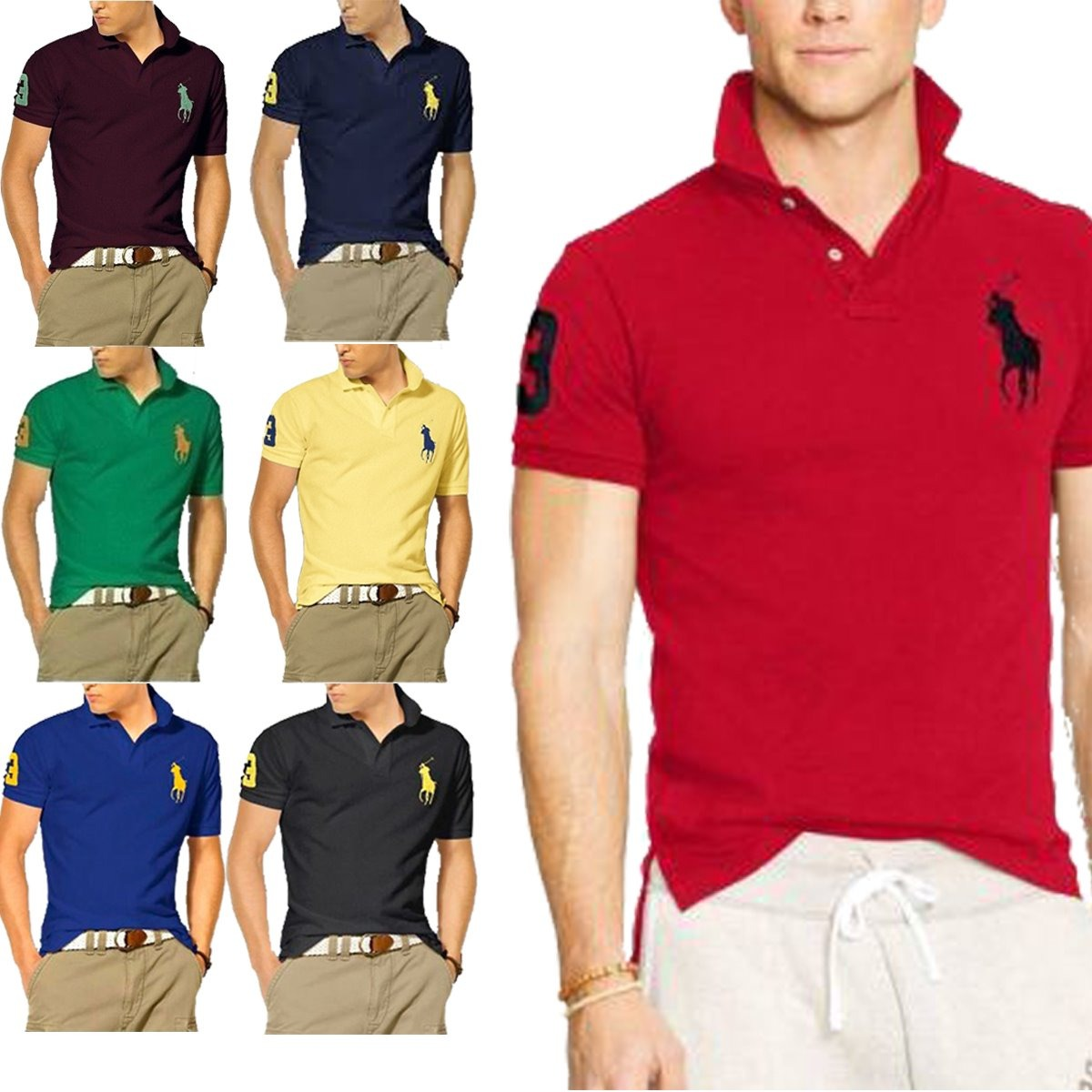 9e40d369266a1 Kit C 10 Camisas Camisetas Atacado Gola Polo Masculina Marca - R ...